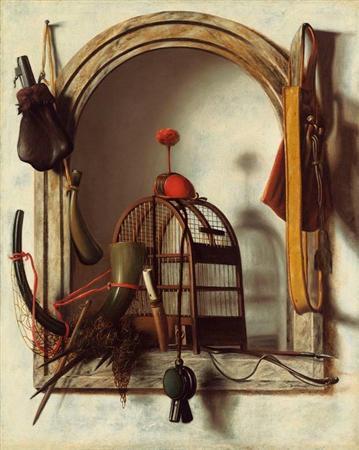 クリストフェル・ピアーソン ( 鷹狩道具のある壁龕 )art14081008440002-p2.jpg
