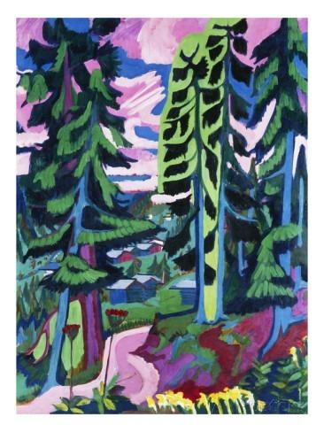 s500_エルンスト・ルートヴィヒ・キルスナー <小川の流れる森の風景>.jpg