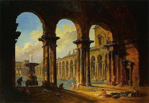 s500_ユベール・ロベール 古代ローマの公衆浴場跡.jpg