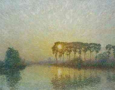 z_エミール クラウス リス川の夕陽.jpg