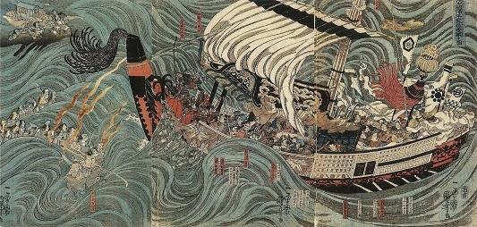 4歌川国芳 (摂州大物浦平家ノ怨霊顕るゝ図).jpg