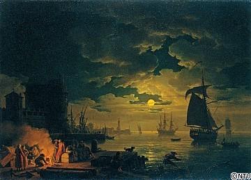 クロード・ジョゼフ・ヴェルネ《パレルモ港の入り口、月夜2.jpg