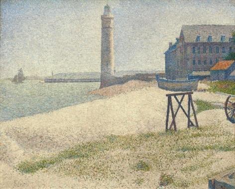 ジョルジュ スーラ ノルマンディのポール アン ベッサンの海景.jpg