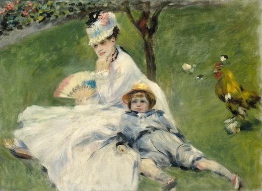 ルノワール  モネ夫人とその息子.jpg