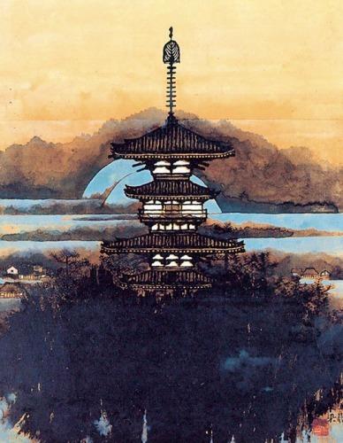 s500不染鉄『薬師寺東塔の図』.jpg