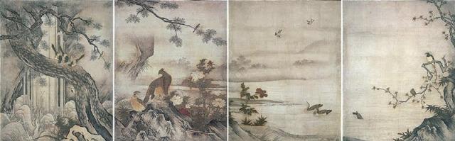 s500狩野元信 「四季花鳥図(旧大仙院方丈障壁画)」 .jpg